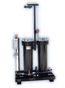 Model 502 dual-housing quench filtration system