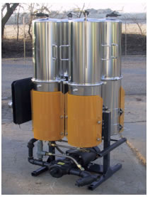 Photo of an Quench Oil Filtration System Unit.