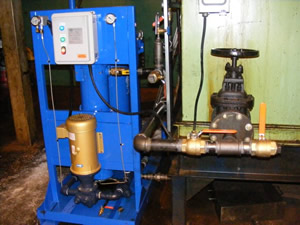 Photo of the Quench Oil Filtration System